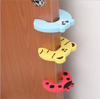 baby gates - Fast Delivery Hew Sales x Baby Safety Finger Pinch Guard Door Stopper Baby Safety Products gate card Animal Model High Quality Baby Gate