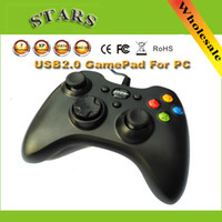 Wholesale New USB Wired Joypad Game controller Dual Vibration gamepad games joystick For PC Xbox Dropshipping