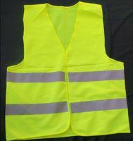 Wholesale Green reflective safety vest coat Sanitation vest Traffic safety warning clothing vest