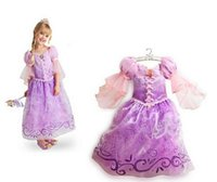 Wholesale Fantasia Vestidos Children Kids Girl Cosplay Dresses Rapunzel Costume Sofia Princess Dress Sleeping Beauty Dress Perform Clothes