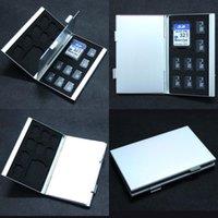 Wholesale 2015 New slots SD MMC TF Card Storage Box Protecter Case hold x SD x TF Aluminum