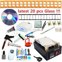 Wholesale full set Repair Mobile phone Built in Pump Vacuum Metal Body Glass lcd screen separator machine UV lamp Optical Clear Adhesive order lt no t