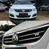 auto rally - Exterior Accessories Car Stickers Chrome D Metal V6 Racing Front Hood Grille Badge Racing Rally Embleme Auto accessories