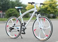 mountain bikes - One wheel bike aluminum curved beam cross country mountain bike speed inch spoked wheels student MTB