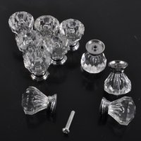 Cheap fashion high quality Glass Crystal Sparkle Cabinet Cupboard Closet Drawer Pulls Knobs Handle UK
