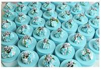 bandage tin - European Style Elegant Hydrangea Flower Round shaped Tinplate candy box Wedding Party Favor Holders with lace Bandage New