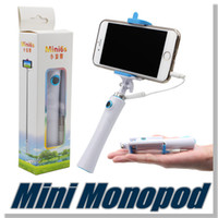 Wholesale For iphone Monopod Selfie Stick mini6s Mobile Phone Monopod Remote Control Selfie stick for iPhone IOS Samsung