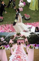 Wholesale 2014 Hot Cheap Beautiful High Simulation Petals Artificial Flower Love Style Rugosa Romantic Rose Roseleaf Petal Sprinkle For Wedding Favors