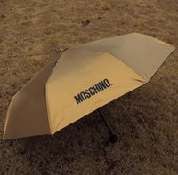 Wholesale New Women Men Mo schino Sunny and Rainy Umbrella Sun uv protection vinyl sunshade anti uv umbrella Umbrella Free DHL
