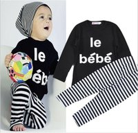 bebe winter coats - baby boy clothes baby clothes long sleeved t shirt stripe Trousers bebe baby girl clothes set hight quality fashion style