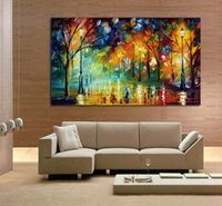 best cheap paint - Cheap Abstract Autumn Forest Knife Oil Painting On Canvas Thick Oil Paintings Wall Picture For Home Decor As Best Gift