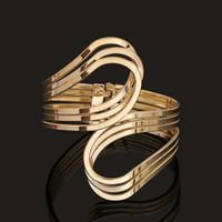 Wholesale 2015 new Fashion punk cuff bangle charm k gold silver Unique Geometry Irregular bracelet jewelry for women BZ0205