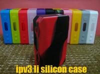 Revisiones Caso ipv3-Caso de silicona Cubierta protectora de goma colorida de la caja de la cubierta de la piel para ipv3 li 165watt ipv 3 li 165W ipv 3li Caja Mod