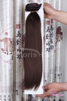 Wholesale Dark Brown Full Head set g Clip In Remy Human Hair Extensions Cheap Clip On Peruvian Virgin Hair inch
