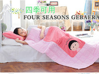 bamboo fleece blanket - 2015 New Cute cartoon Chibi Maruko Shou Wu nap pillow pillow is combo plush cushion blanket