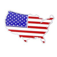 american flag decal - New Car Styling Universal D Aluminum National Flag American Map Stickers Decal Film Decoration Badge Emblem High Quality