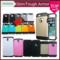 samsung galaxy s4 - SLIM TOUGH Armor Case For iPhone Samsung GALAXY S4 S5 Note iPhone S C S PC TPU Hybrid Skin Cover no retail package DHL