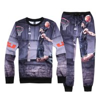 hoodies - Basketball LeBron James Hoodies Printed d Hoodies Sweatshirts Hip Hop Hoodies Outdoor Sports Men Fashion Clothing Hoody Pants Set