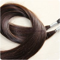 Wholesale 2 inch dark brown best Quality Silky Straight Stick I Tip Brazilian Hair g pieces Cold fusion remy extensions