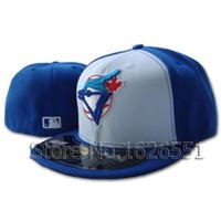Wholesale Men s full Closed Toronto Blue Jays fitted hat sport team casquette baseball cap