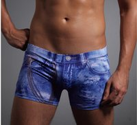 bamboo boxer shorts - Soft and breathable with Nadine Men Bamboo Fiber Boxer Shorts Sexy Men Denim Underpants With Retail Package