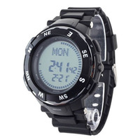 Wholesale New Digital Time Zone Display Compass Two Alarms Stopwatch Electronic Sport Watch Unisex Wristwatch