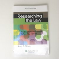 Wholesale 2016 new hot book Researching the Law