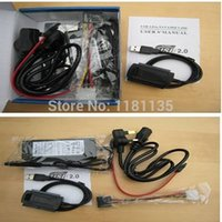 Wholesale High Quality Set New USB To SATA IDE Hard Drive Cable For HDD Converter Adapter W Power