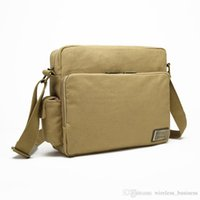Wholesale Funtions Men s Casual Canvas Vintage Shoulder Bag Outdoor Women Men Retro Diagonal Business Purses bag A12