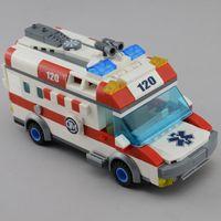 ambulance emergency - City Serise Rescue Emergency Ambulance Building Blocks Sets Model Construction Bricks Toys For Children Enlighten