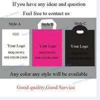 Wholesale custom logo plastic gift bag cm custom printed poly clothing bags custom bag with logo