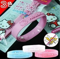 Cheap New Arrival Natural Cute Cat Mosquito Insect Bracelet Band Baby Wristband Repellent Anti Bracelet 20pcs lot Free Shipping