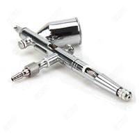 air brushing nails - 0 mm cc Dual Action Airbrush Makeup Paint Gun Air Brush Kit and Spray Gun for Makeup Nail Art Tattoos Body Spray New