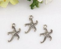 antique jewelry sale - Hot Sale Antique silver starfish Charm Pendants DIY Jewelry x mm mm26