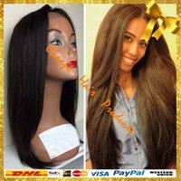 africa bank - Cheap A Africa American Brazilian human hair full lace wigs straight Gluless Lace front Human Hair Wigs for Black Women