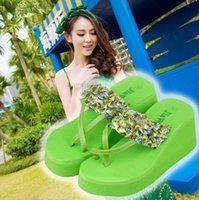 Wholesale 2015 NEW Women Floral Thong Sandal Slippers Fashion Lady Summer Beach Slippers Shoes E009A