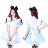alice dresses - Hot Sale Alice In Wonderland Dress Lolita Fancy Dress Maid Cosplay Fantasia Carnival Halloween Costumes For Women