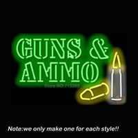 ammo display - Guns Ammo Neon Sign Pub Store Beer Pub Recreation Room Neon Signs Handcraft Real Glass Club Display Advertising Gifts x18