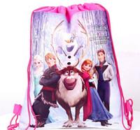 Wholesale 120pcs mixed designs frozen despicable me cars sophia princess drawstring bags Anna Elsa backpacks handbags children cartoon school bags
