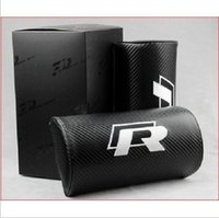 Wholesale car headrest Car pillow for volkswagen vw jetta passat polo GTI golf tiguan Touareg R LINE carbon fiber style