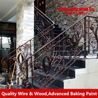 wrought iron fence - Wrought iron banister outdoor terrace garden wrought iron metal fence security fencing