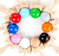 Wholesale 19CM Kendama Ball Large Size Japanese Traditional Wood Game Toy Education Gift Colors