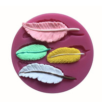 bar soap molds - Four Pieces Leaf Shape Silicone D Mold Cookware Dining Bar Non Stick Cake Decorating Fondant Mould Tools silicone molds for soap