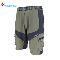 Wholesale ARSUXEO Breathable Downhill Mountain Clothing Men s Outdoor Sports Cycling Athletic Shorts Road Bike MTB Bicycle Casual Shorts