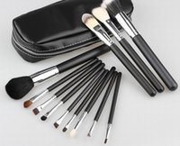 Wholesale hot new set Professional Makeup Brushes with leather pouch