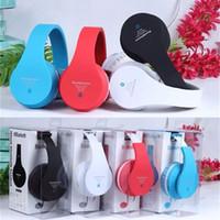 Cheap Wireless Bluetooth Stereo Headsets Handsfree Headphones Sports Earphone Headbands TF Card MP3 FM Universal for iPhone Galaxy HTC V650 MS-B2