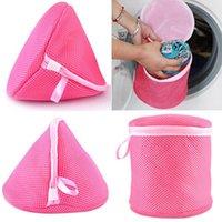 Wholesale Underwear Aid Bra Laundry Mesh Wash Basket Net Washing Storage Zipper Bag Christmas Gift LNS
