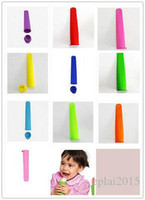 Wholesale 10 Color Blast Ice Pop Makers Popsicle Silicone Freezer Ice Cream Maker Mold