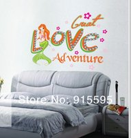adventure decal - Sets Mermaid Love Adventure D DIY Wall Poster Adhesive Wall Decals Wall Stickers Art Home Decor cm