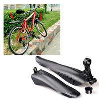 bicycle mud guards - New Cycling MTB Road Bike Bicycle Front Mudguard Rear Fender Mud Guard Set Black